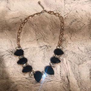 Banana Republic dark blue/black stone necklace
